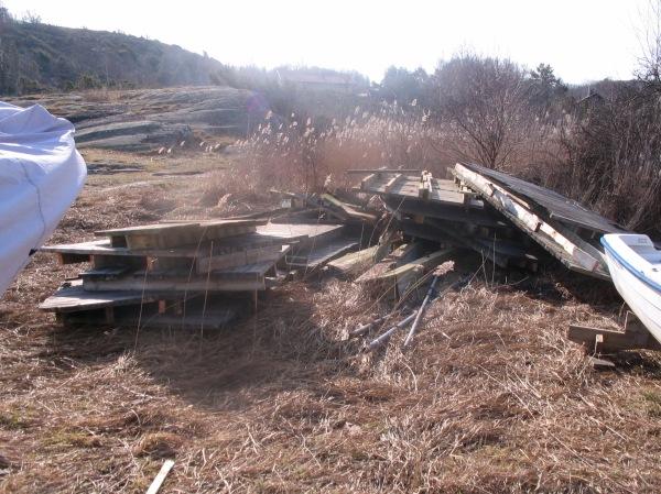 Brännö Samfällighetsförening bryggavfall i Ersdal 2017
