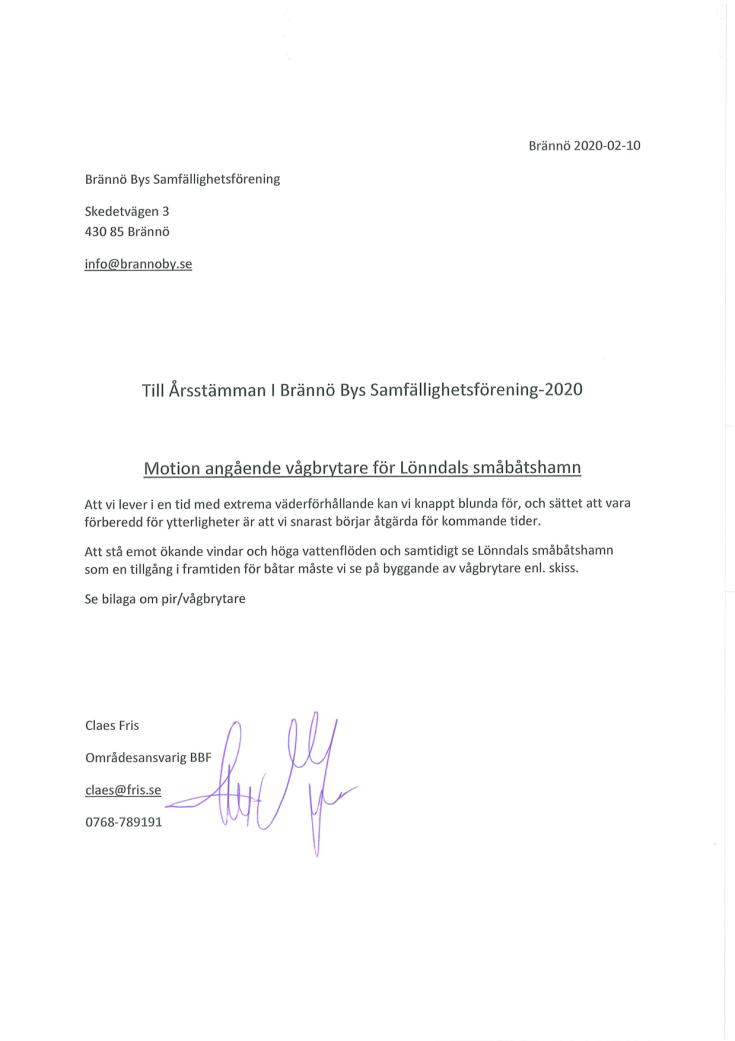 Motion Vågbrytare Lönndal BSF